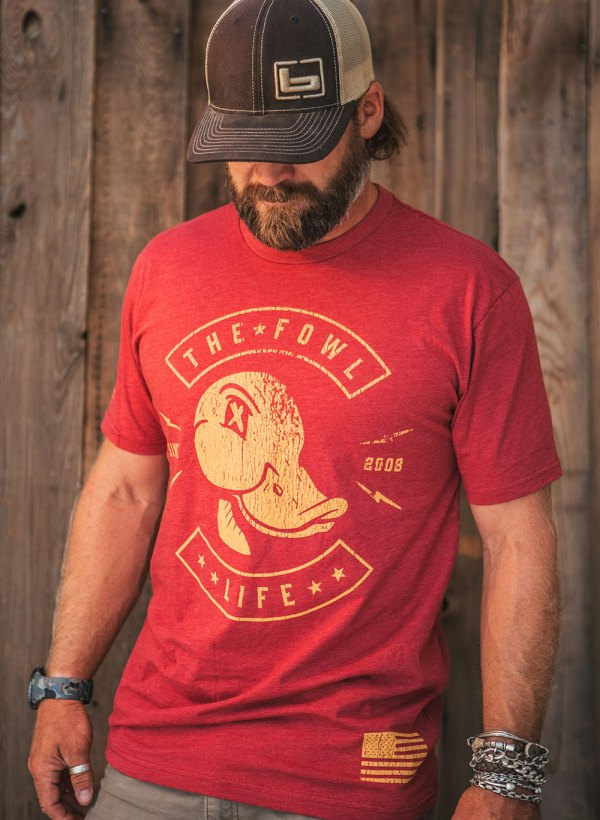 The Fowl Life red tee