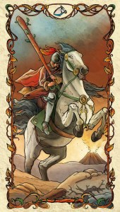 Knight of Wands - Tarot Mucha
