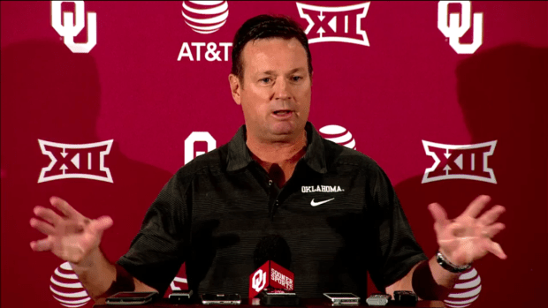 During his Monday press conference, Bob Stoops sounded confident as always going into Saturday's game with Texas despite three consecutive lackluster performances against the Longhorns.