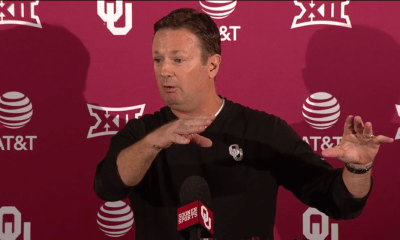 During his weekly news conference on Monday, Oklahoma coach Bob Stoops describes his young players' readiness against Texas.
