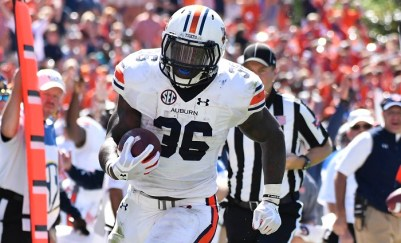 Auburn's Kamryn Pettway led the SEC in rushing the season, averaging 138 yards in conference games.