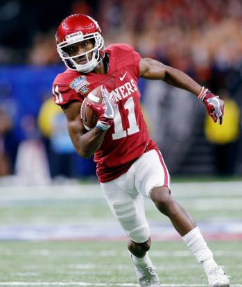 Dede Westbrook caught six passes for 59 yards in Oklahoma's 35-19 Sugar Bowl victory over Auburn. (PHOTO: Ty Russell, OU media relations)