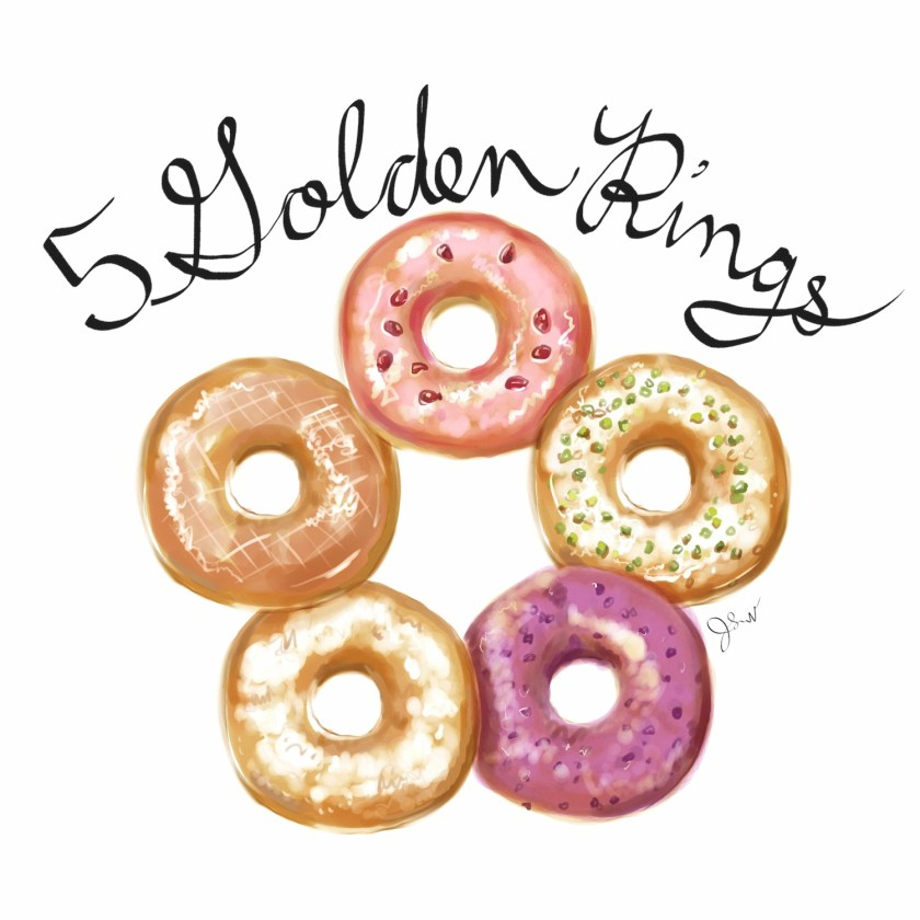 5 golden rings text