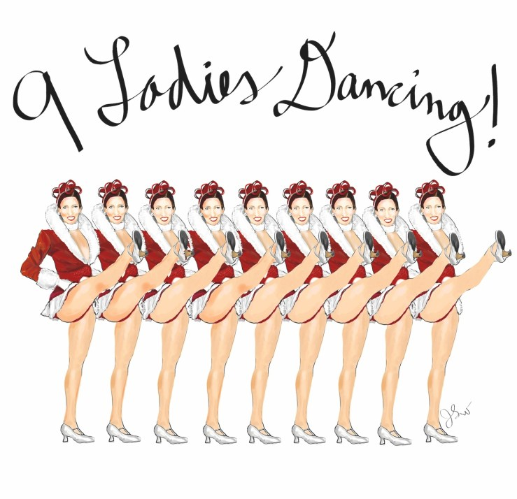 9 ladies dancing LD