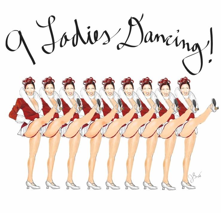 9 ladies dancing LD