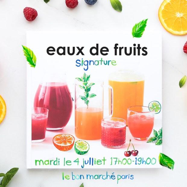 Agua-fresca_Jessie Kanelos Weiner_Editions Marabout_Bon Marche signature poster