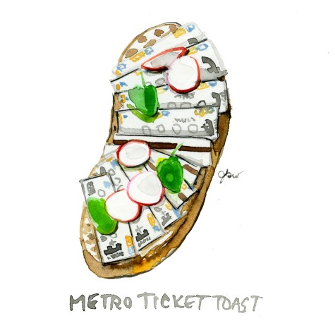 metro ticket toast