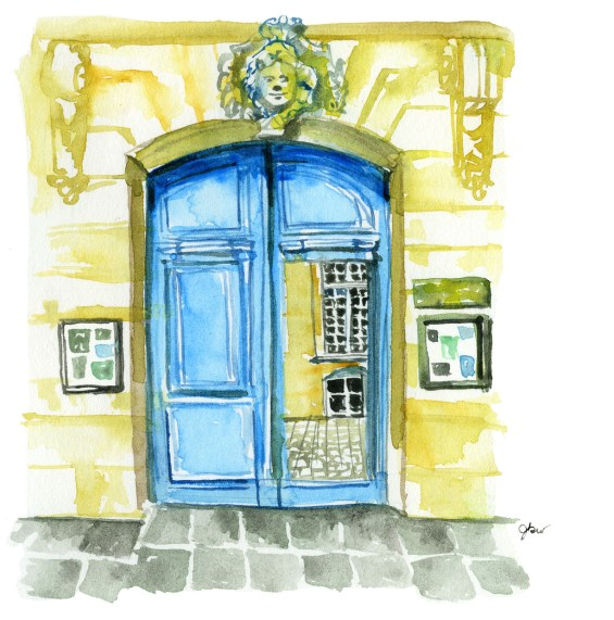 https://www.amazon.com/Paris-Stride-Insiders-Walking-Guide/dp/0847861252 available for preorder. Paris in Stride: An Insider's Walking Guide. American in Paris watercolor illustrator. Paris architecture illustraiton. Institut suédois Paris. Paris doors illustration. American in Paris watercolor illustrator. Architecture illustrator Paris. Blue door. Best Paris expat blogs.