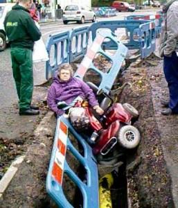 drunk granny crash