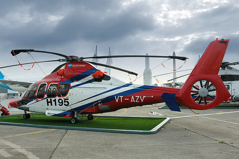 A EC155 Europcopter similar to the one that the swan fell in love with. Its a great looking copter!