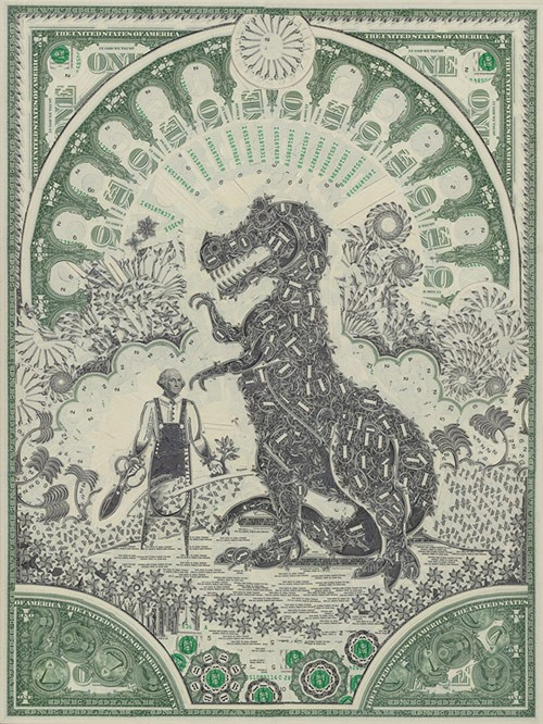 dollar bill art 1
