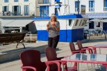 Nog een biertje, Mr. Fredlee? Anorher beer Mr. Fredlee? A lovely café to sit and have a beer whilst looking across the harbour in Tapia.