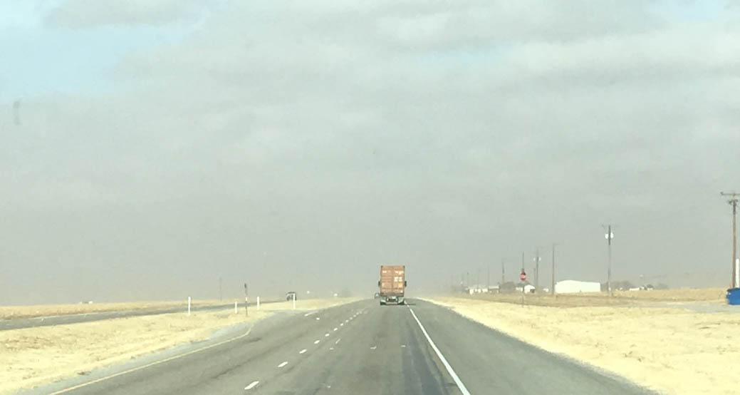 West Texas Dust Storm Northbound US-87