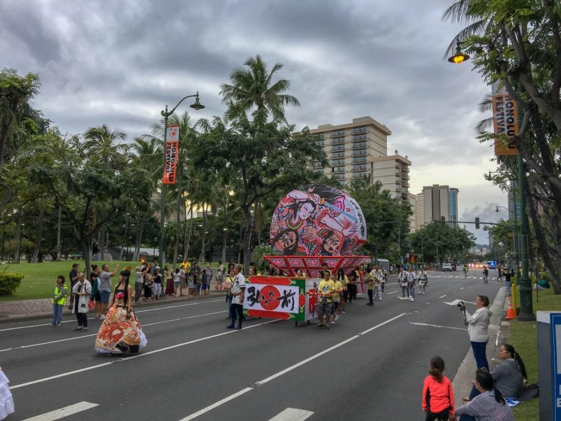 Last Float in Honolulu Parade