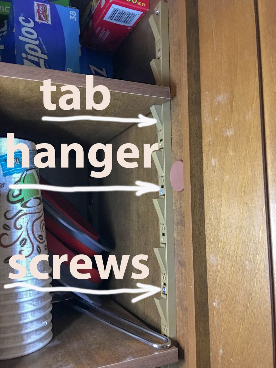 Cabinet #6 Shelf Hangers Supplied by Lance