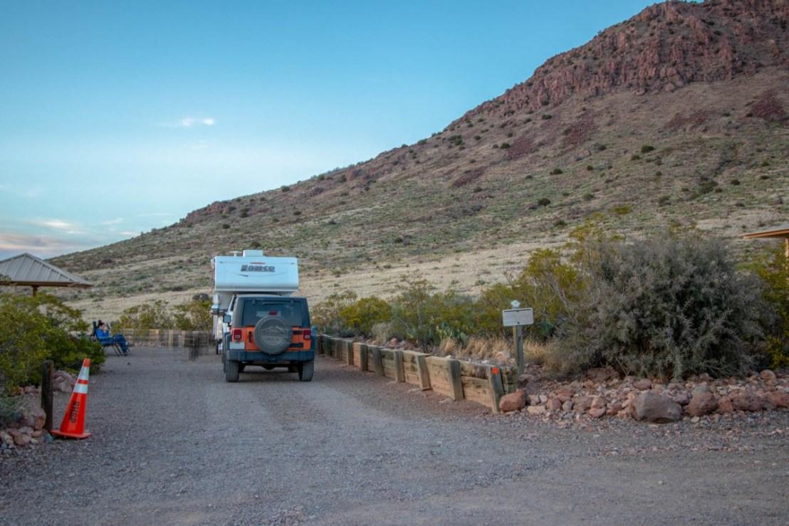 Campsite Cut Into The Mountainside