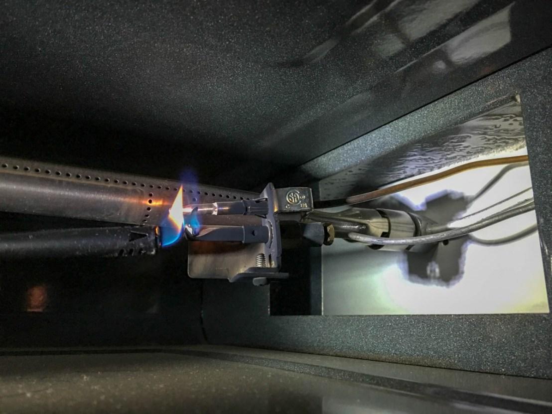 Flame On Pilot Light Assembly