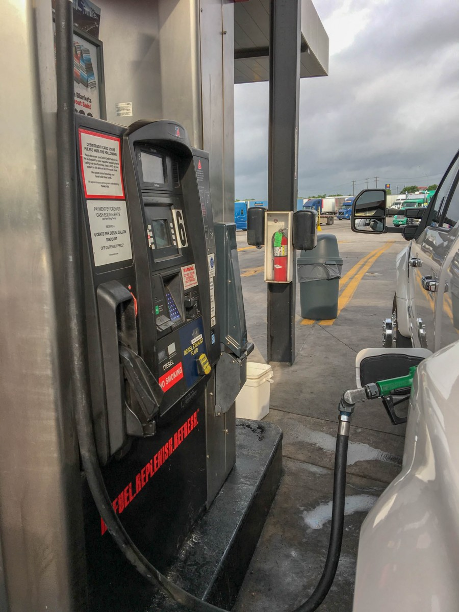 Commercial Truck Pump at TA Truck Stop - Diesel and DEF