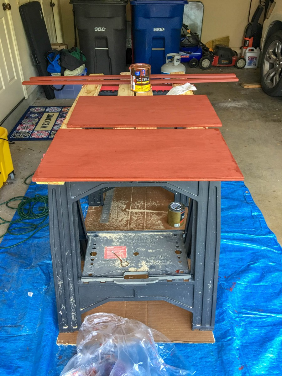 Staining 1/2 Inch Finished Plywood Shelving