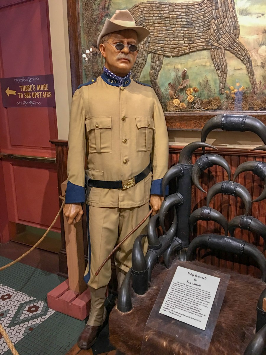 Teddy Roosevelt Likeness in Rough Rider Uniform