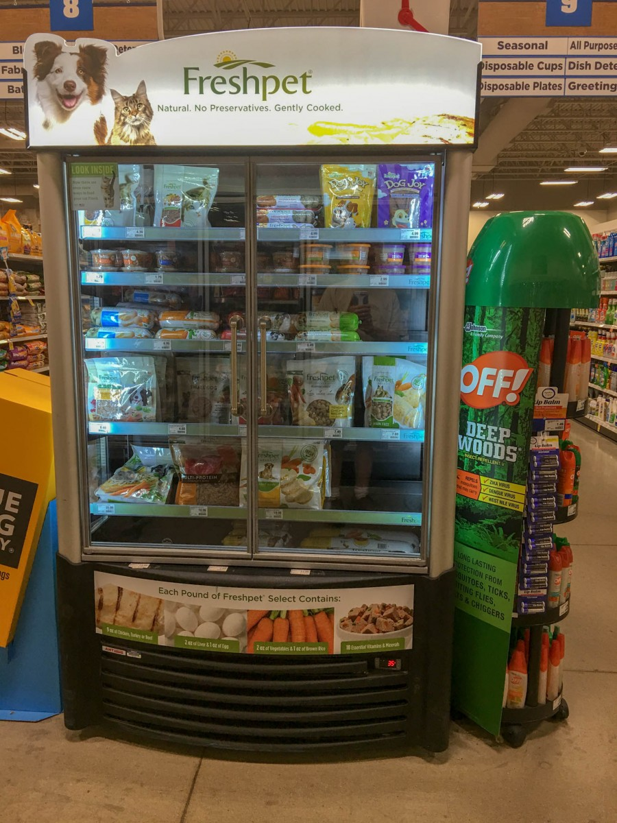 Freshpet Display at United Grocery Store in Brownwood, Texas