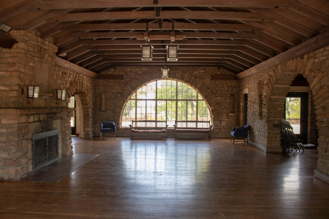 Group Recreation Hall Great Room at Lake Brownwood State Park