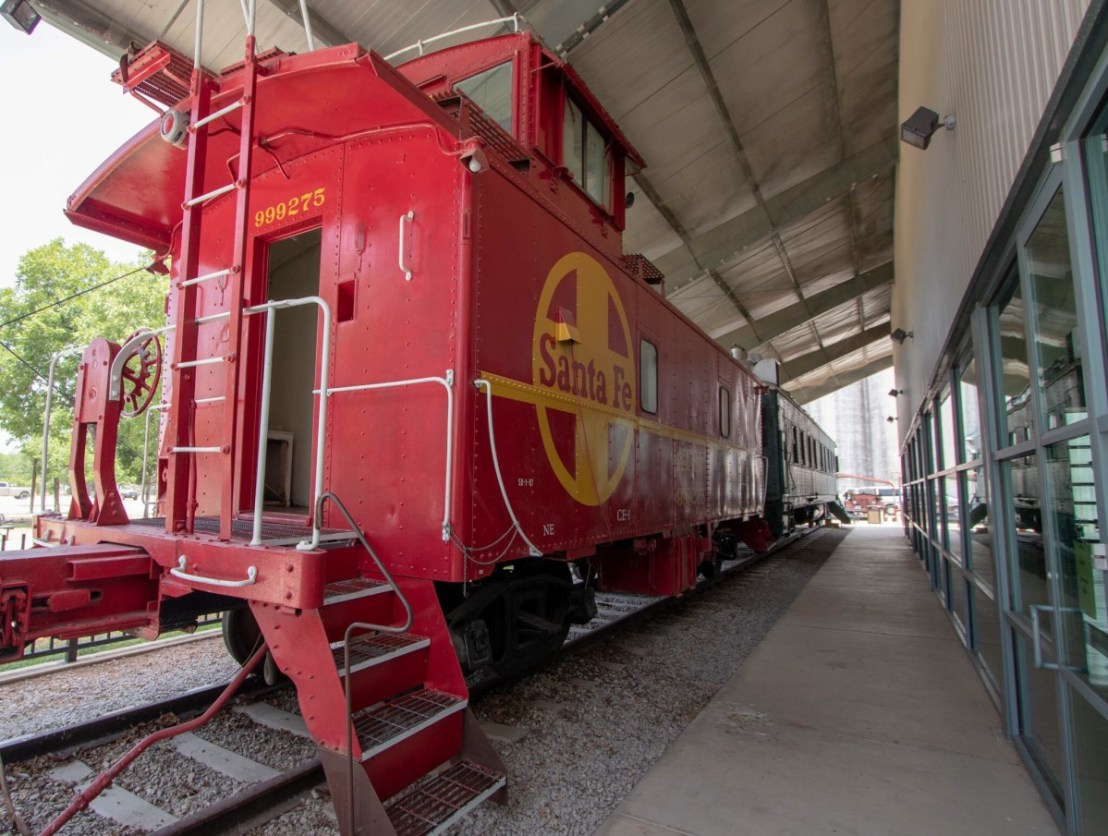 Santa Fe Caboose at Lehnis Railroad Museum