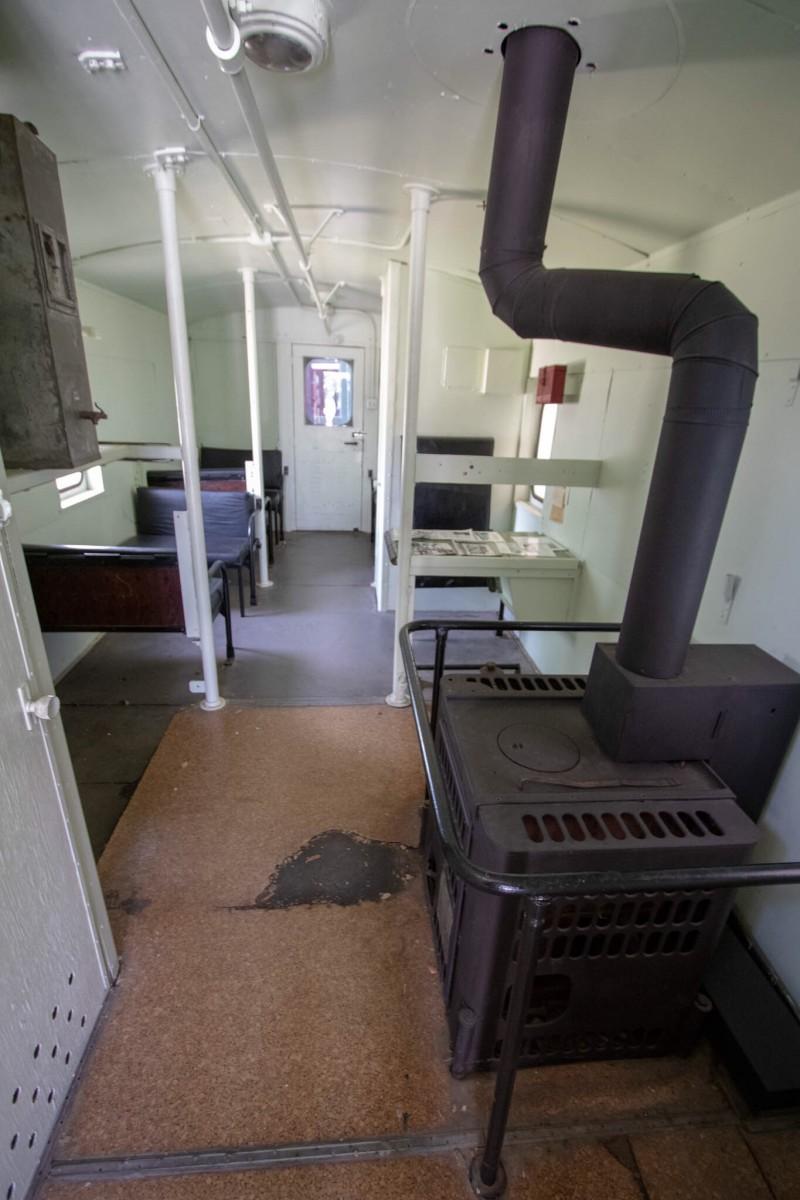 Red Caboose Interior at Lehnis Railroad Museum