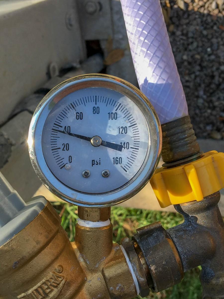 Water Pressure Regulator Setting Too Low