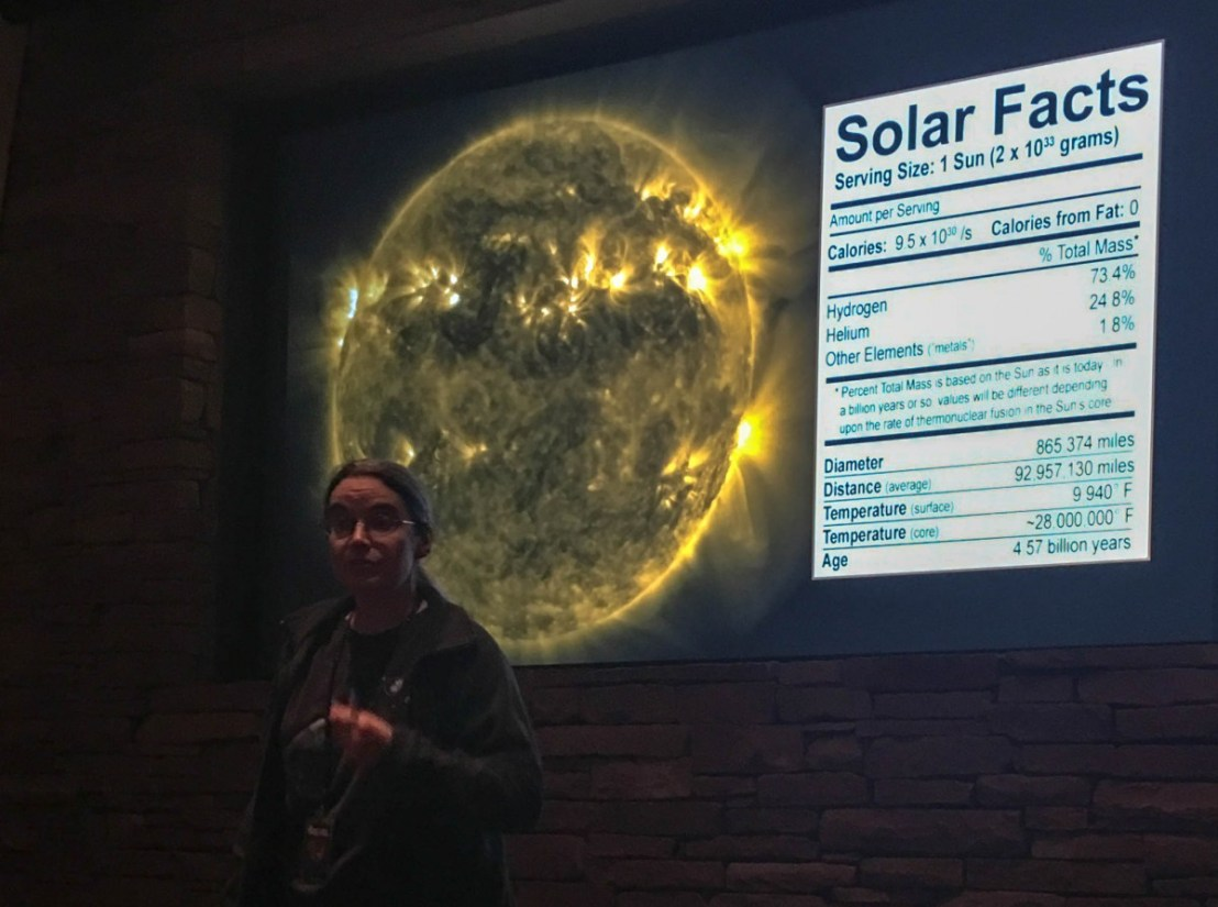 Solar Facts Presented During The Solar Lecture