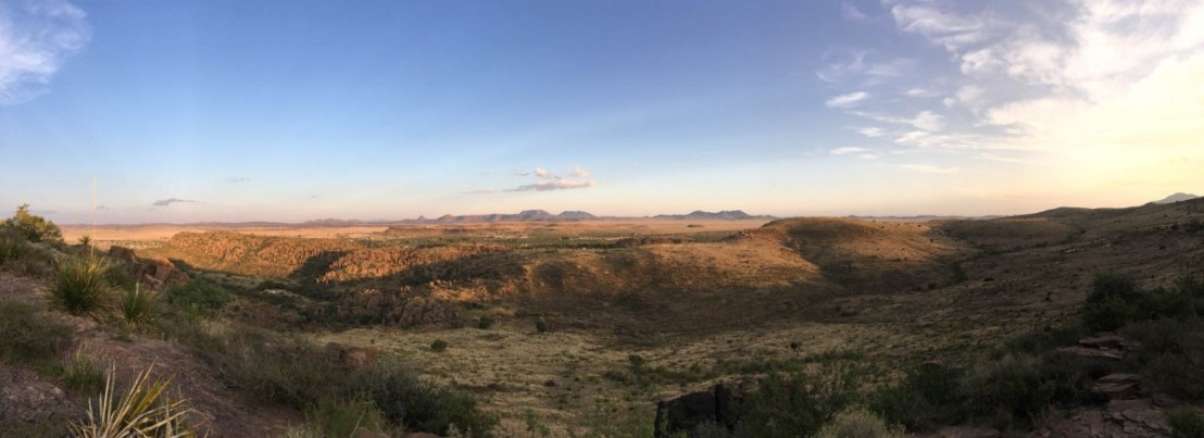 Sunset Panorama Taken at Rock Shelter on Skyline Drive