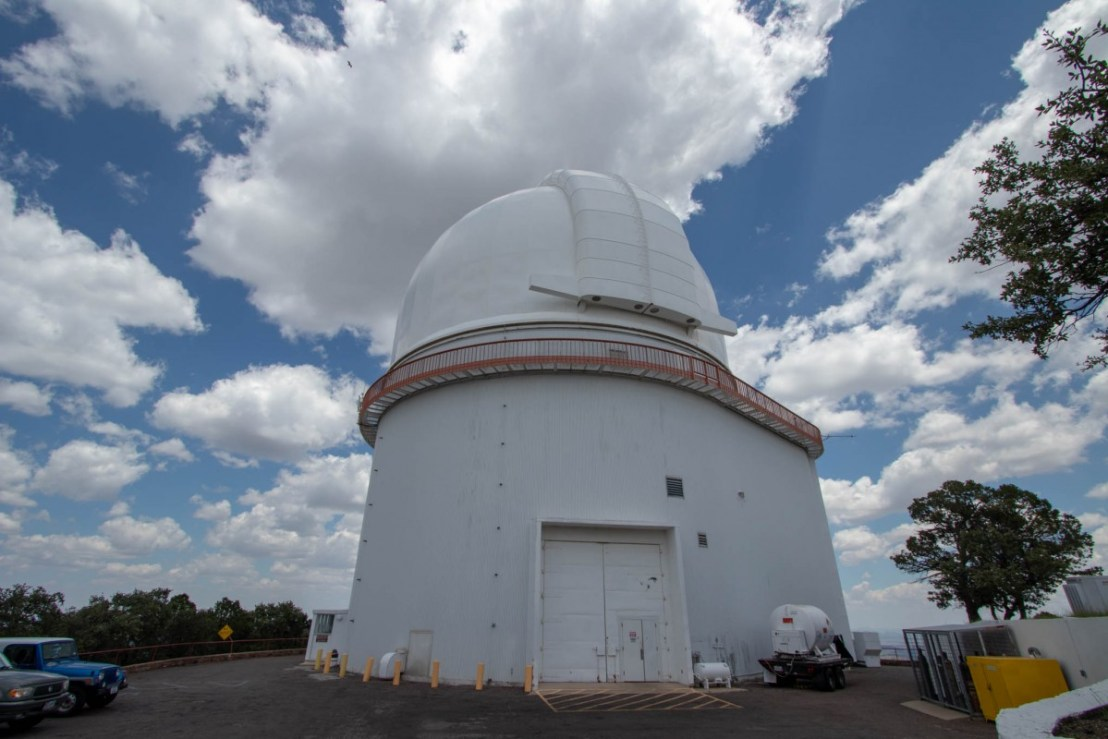 Harlan J Smith Telescope - Side View
