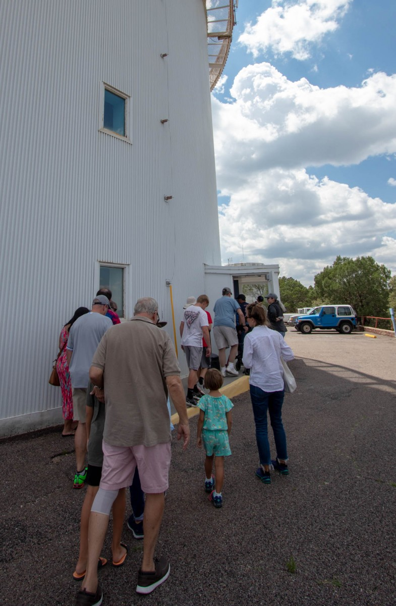 Lining Up To Enter Harlan J Smith Telescope