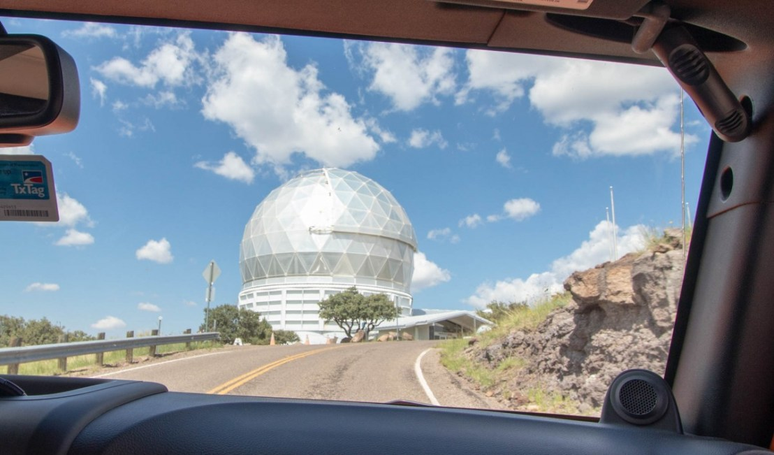 Approaching Mount Fawlkes Summit With Hobby-Eberly Telescope