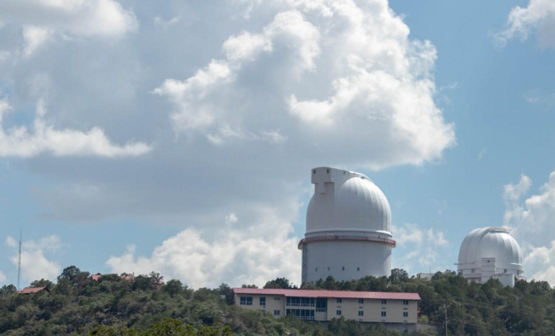 Mount Locke Summit - Left Harlan J Smith Telescope, Right Otto Struve Telescope