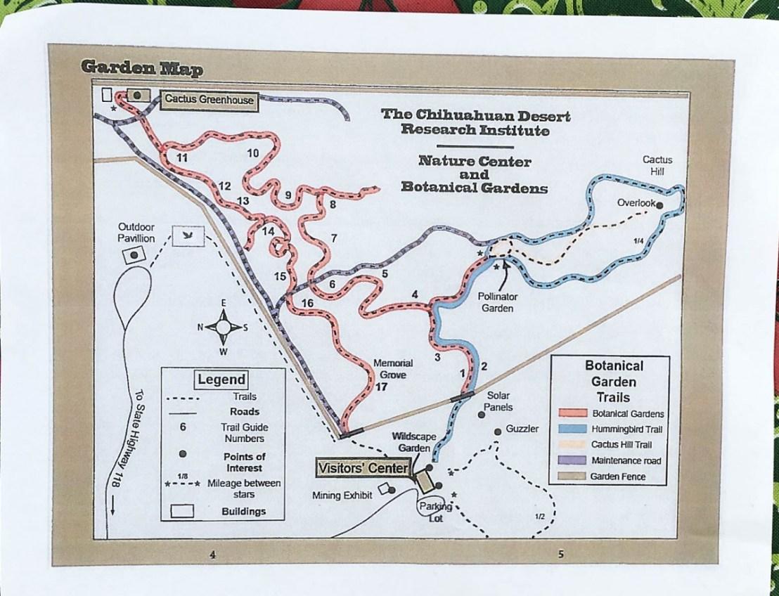 Paper Botanical Garden Map