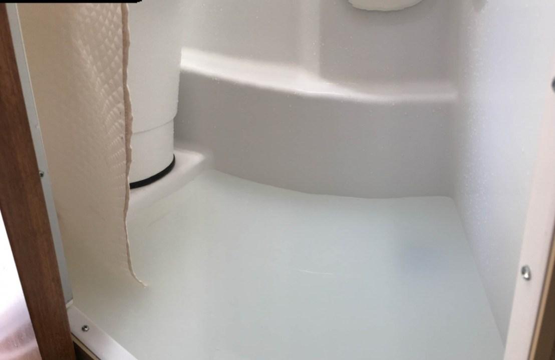 Camper Wet Bath Overflows Onto Floor