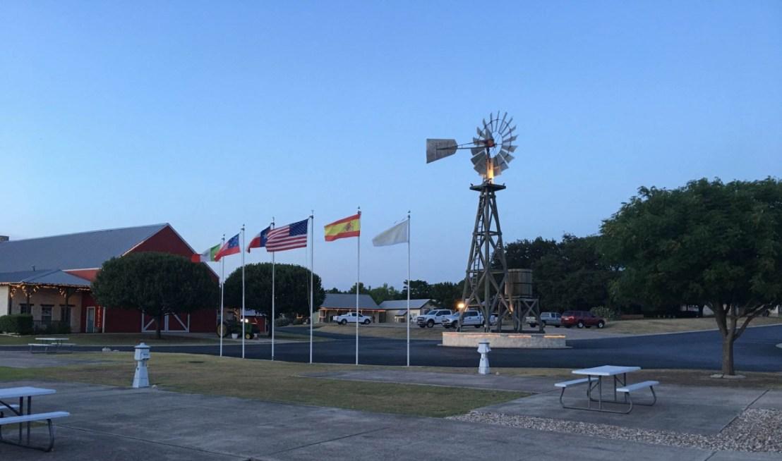 Buckhorn Lake Resort Windmill at Dusk