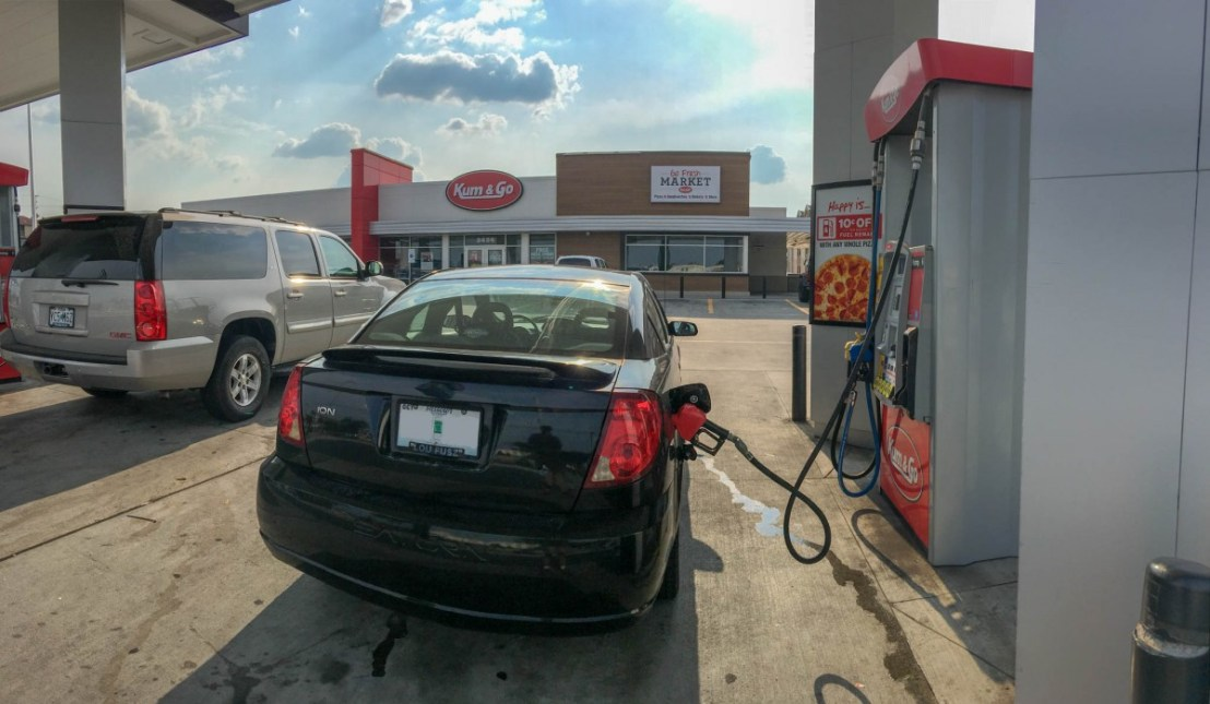 Filling The Car At The Kum & Go In Joplin Missouri