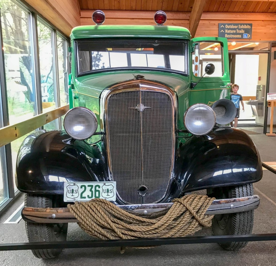 Antique Forest Service Fire Truck