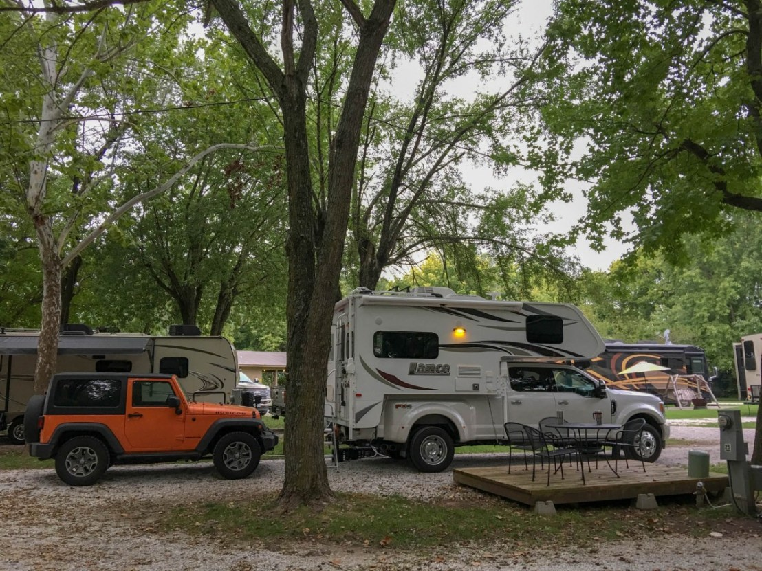Campsite, Trees and Patio