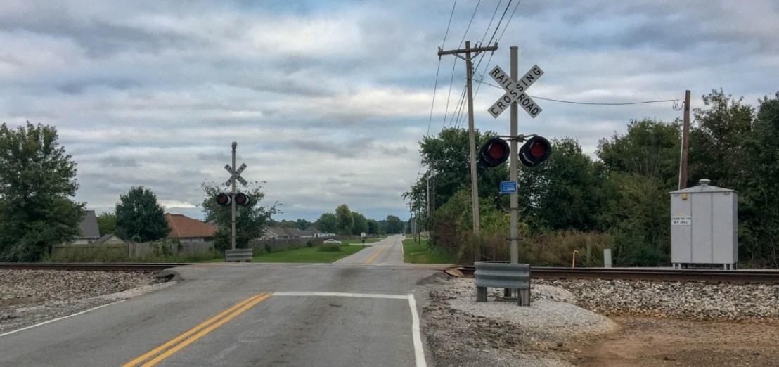 Train Crossing Farm Road 140