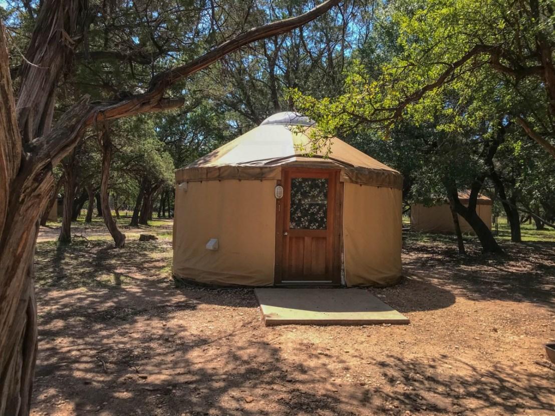 Texas State Park Yurt