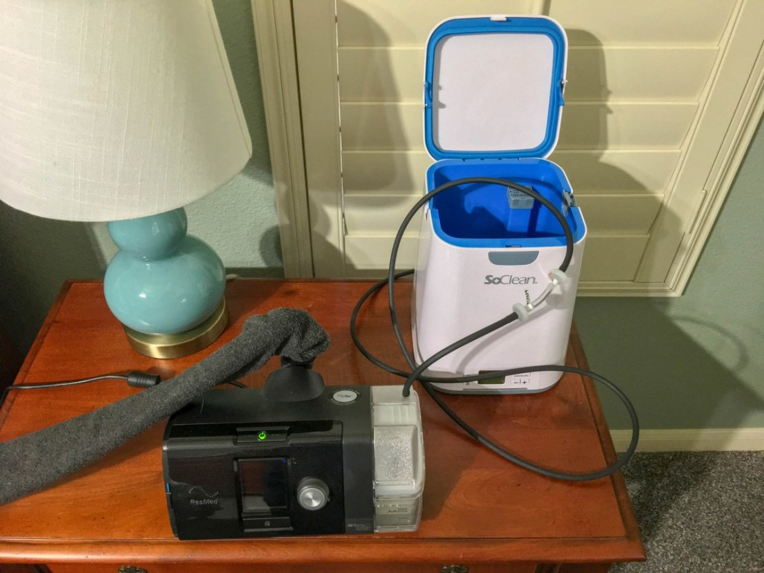 CPAP and SoClean Machines On The Nightstand