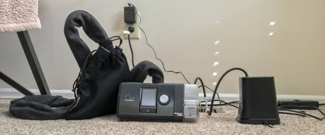 CPAP and SoClean 2 Go With Optional AC Power Supply