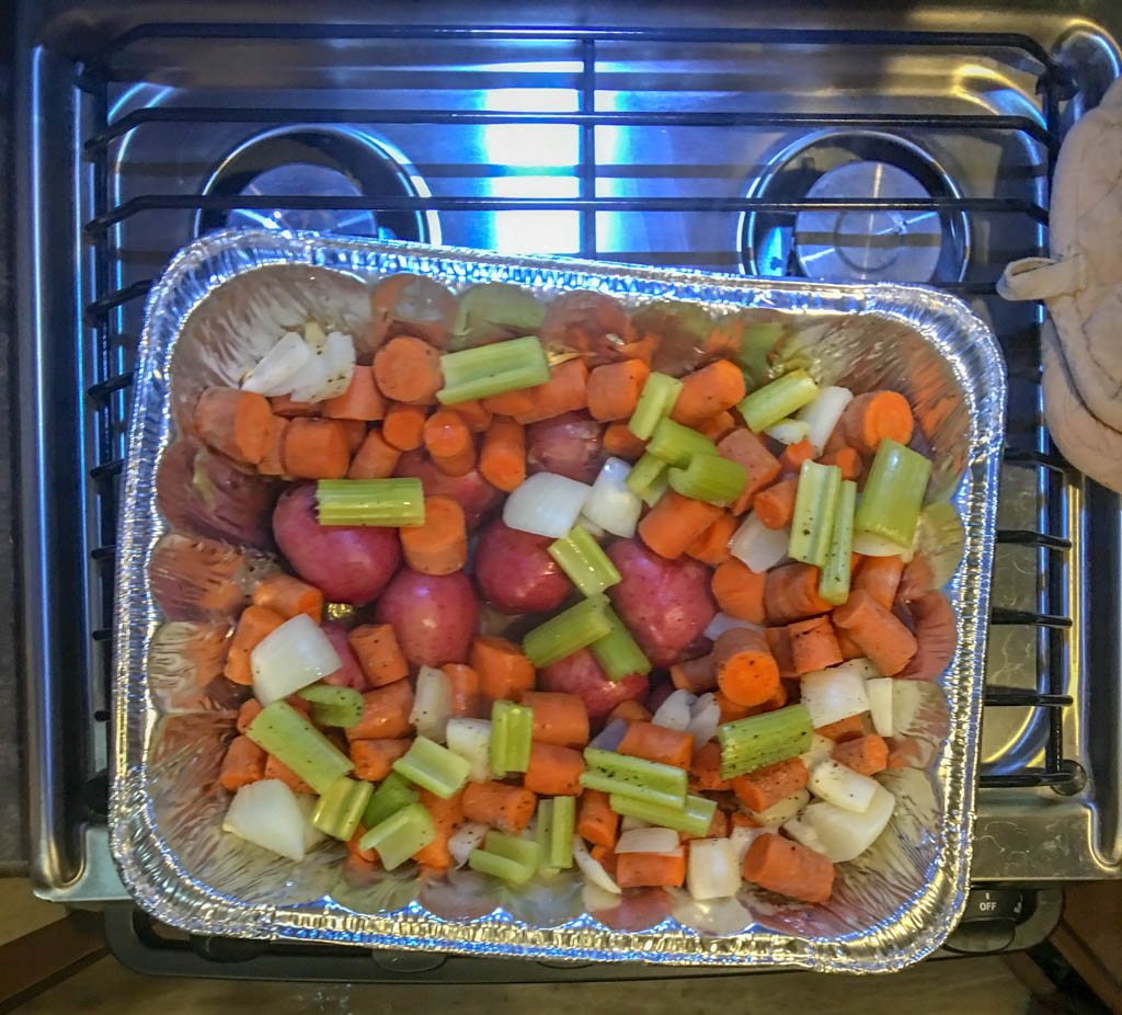 Roast Carrots and Potatoes (mostly raw)