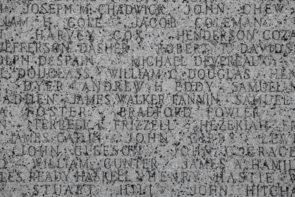 James Walker Fannin Inscription