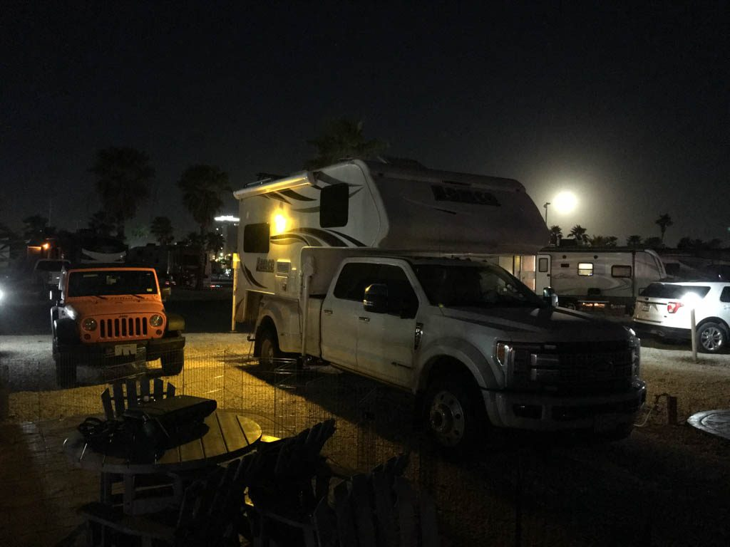 Moonrise Over Campsite