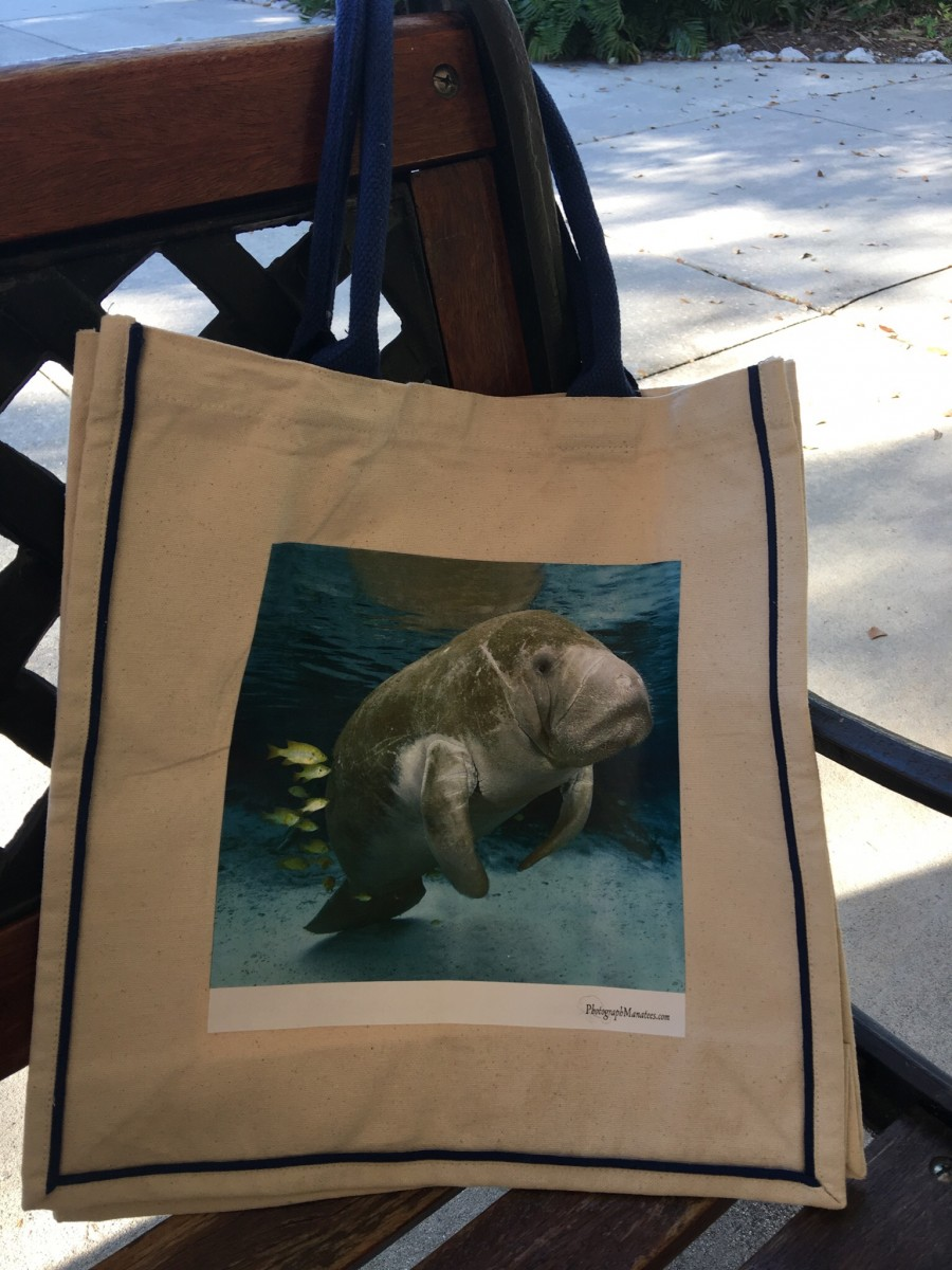Manatee Canvas Grocery Bag
