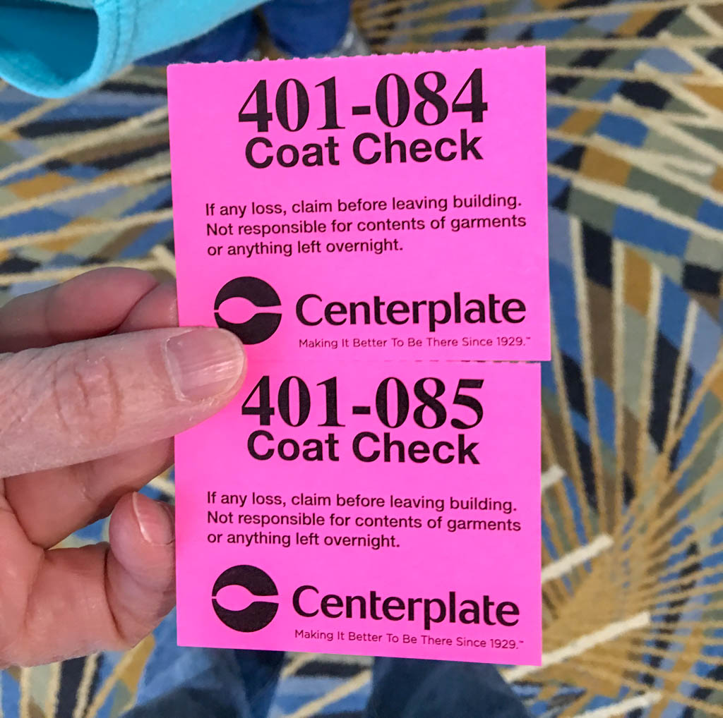 Coat Check Claim Tickets